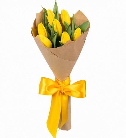 7 sarı Lale Buketi