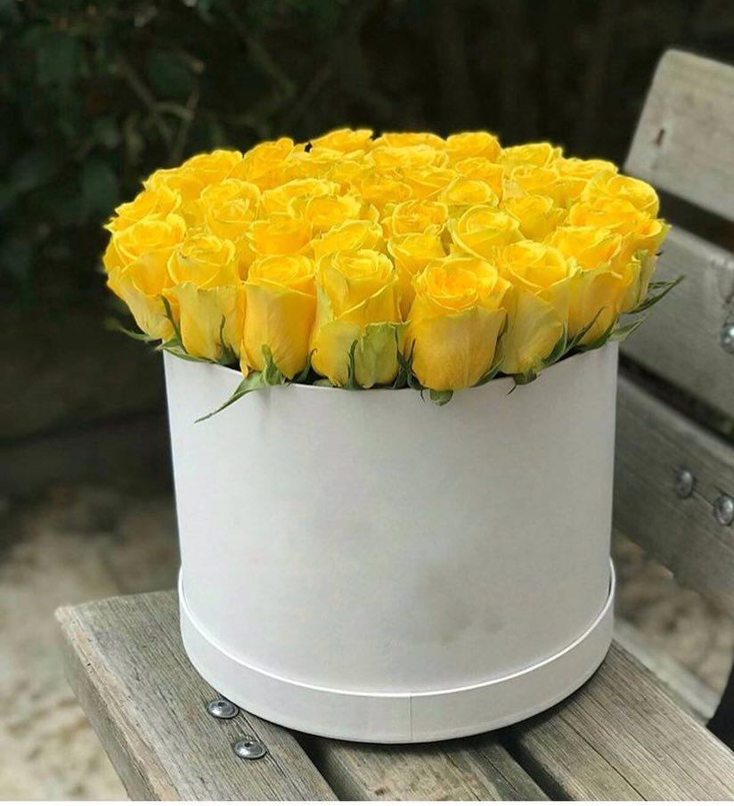 Kutuda 41 Adet Sarı Gül