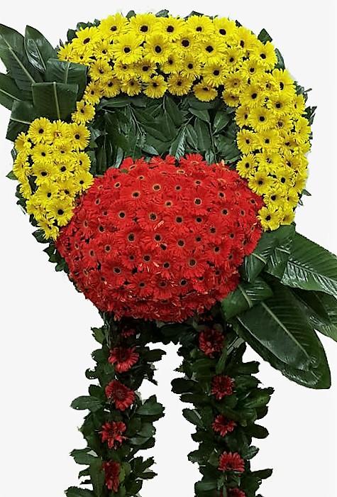 Sarı Kırmızı Cenaze Çiçeği