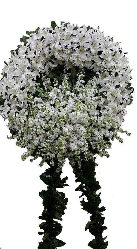 Beyaz Taziye cenaze Çelengi