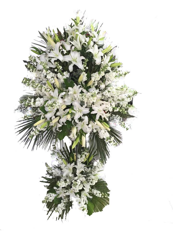 Beyaz Çiçeklerden Oluşan Ferforje