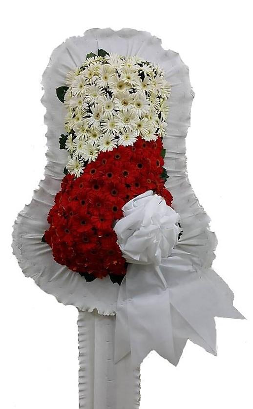 Kırmızı Beyaz Ayaklı sepet Açılış çiçeği