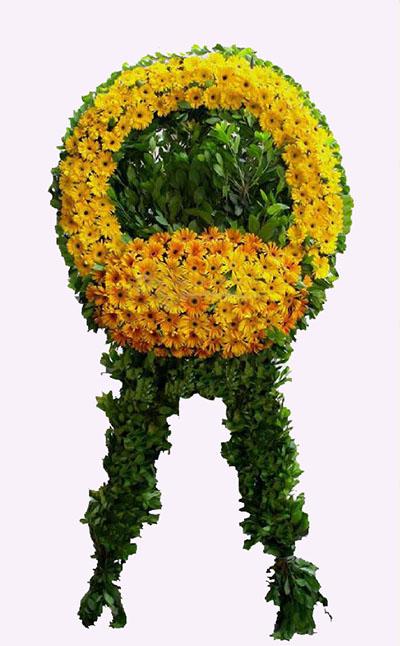 Sarı Renkli çiçeklerden Oluşan Cenaze Çiçeği